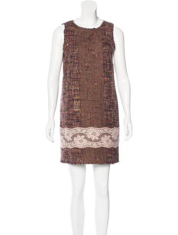 Dolce & Gabbana Wool Bouclé Dress None