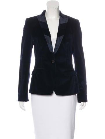 Dolce & Gabbana Paneled Velvet Blazer None