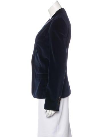 Paneled Velvet Blazer