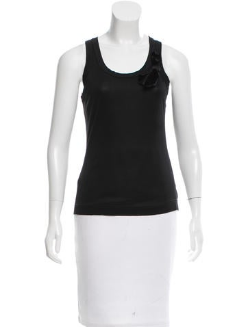 Dolce & Gabbana Sleeveless Scoop Neck Top None