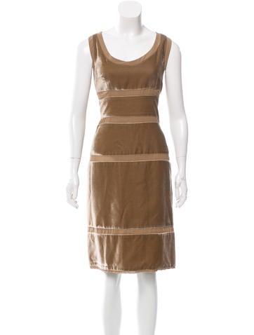 Dolce & Gabbana Silk Velvet Dress None