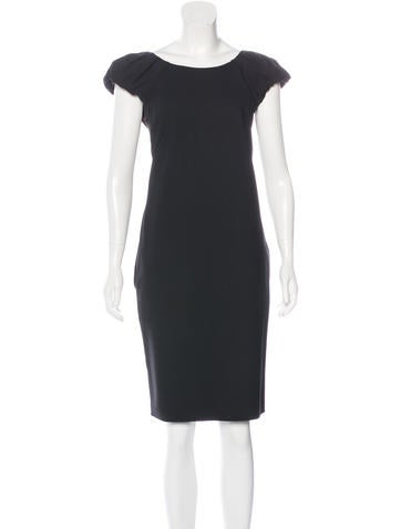 Dolce & Gabbana Wool Knee-Length Dress None