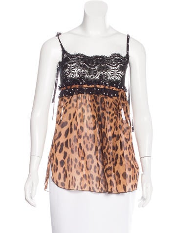 Dolce & Gabbana Leopard Print Sleeveless Top None