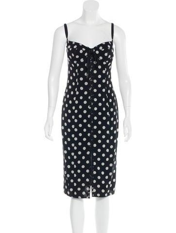 Dolce & Gabbana Polka Dot Bustier Dress None