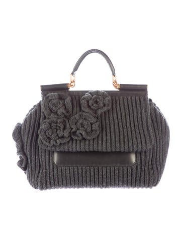 Dolce & Gabbana Miss Sicily Knit Bag None