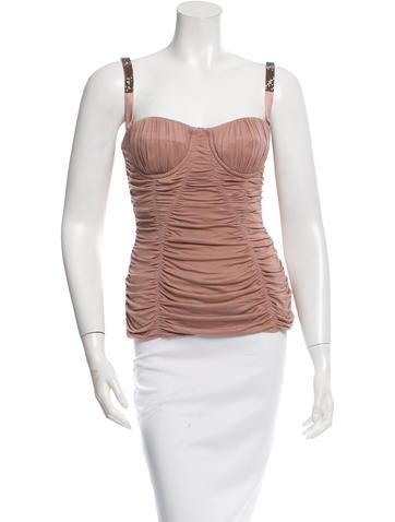 Dolce & Gabbana Emebellished Silk Bustier w/ Tags None