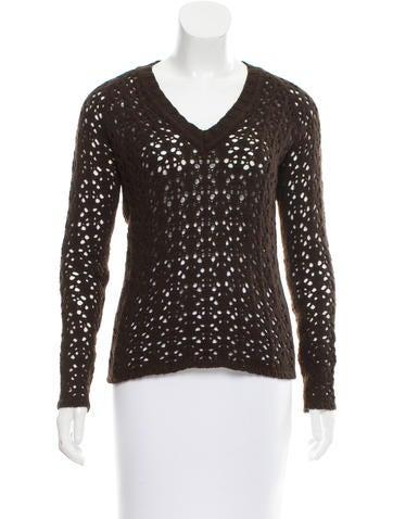 Dolce & Gabbana Open Knit V-Neck Sweater None