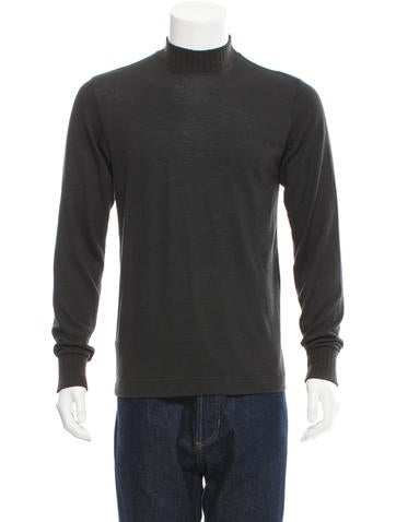 Dolce & Gabbana Mock Neck Rib Knit-Trimmed T-Shirt None