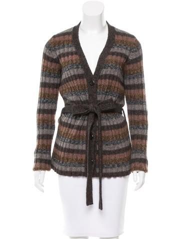 Dolce & Gabbana Striped Knit Cardigan None