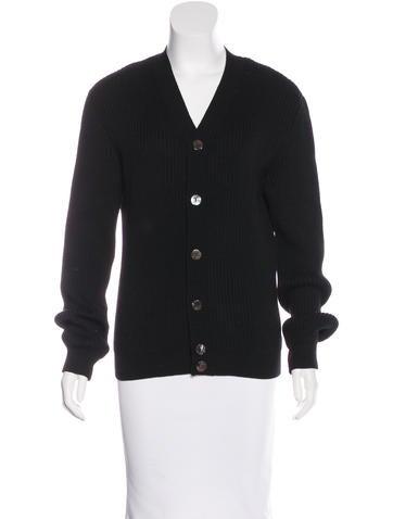 Dolce & Gabbana Rib Knit Virgin Wool Cardigan None