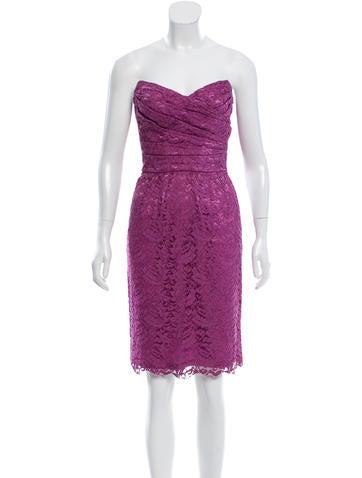 Dolce & Gabbana Strapless Bustier Dress None