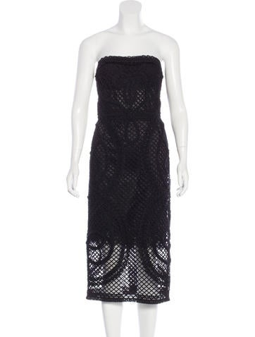 Dolce & Gabbana Strapless Mesh Dress w/ Tags None