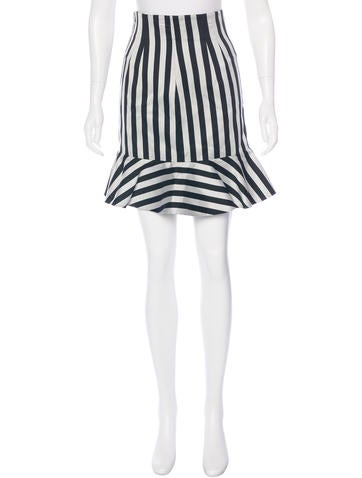 Dolce & Gabbana Striped Knee-Length Skirt w/ Tags