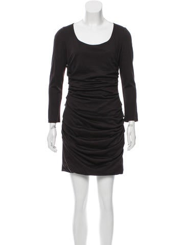 Dolce & Gabbana Ruched Wool Dress None
