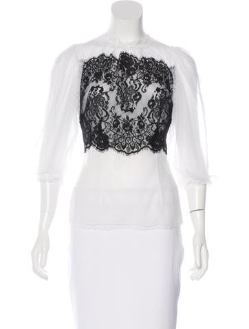 Dolce & Gabbana Lace Fitted Top