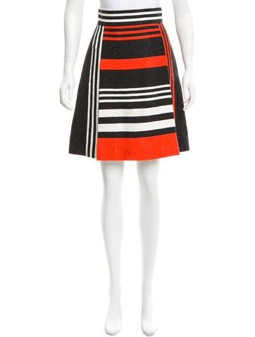 Dolce & Gabbana A-line Embossed Skirt