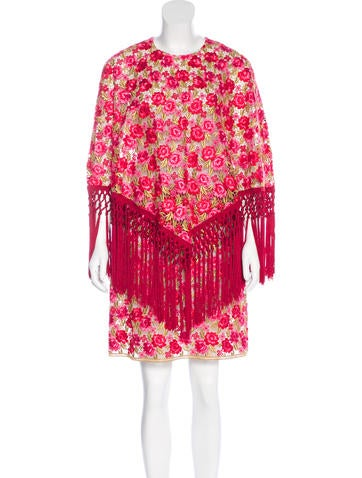 Dolce & Gabbana 2015 Carnation Poncho Dress