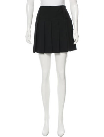 Dolce & Gabbana Wool Pleated Skirt None