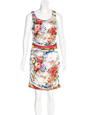 Dolce & Gabbana Floral Silk Dress w/ Tags None
