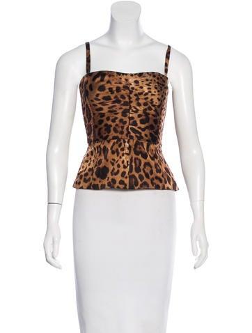 Leopard Print Corset Top
