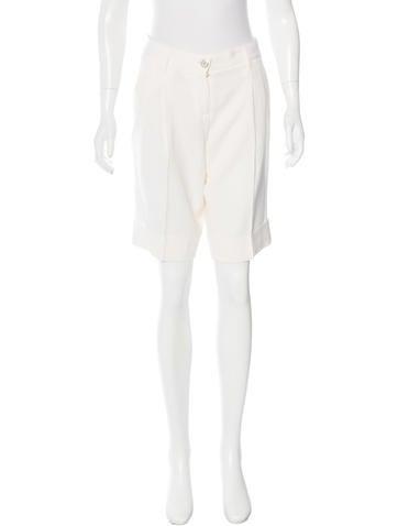 Dolce & Gabbana Virgin Wool Knee-Length Shorts None