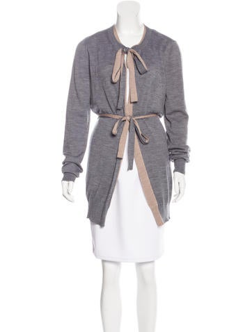 Dolce & Gabbana Tie-Accented Reversible Cardigan None