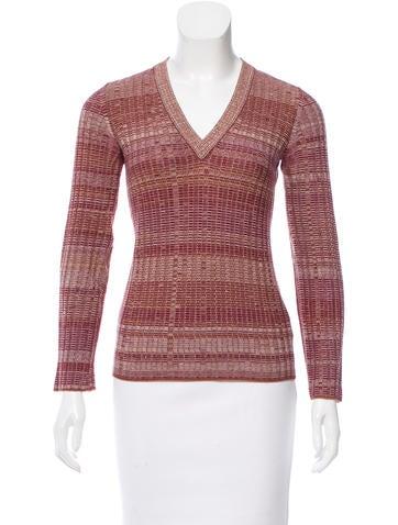Dolce & Gabbana Wool Striped Sweater None