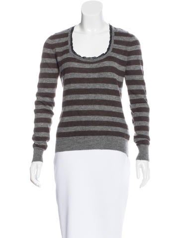 Dolce & Gabbana Striped Long Sleeve Sweater None