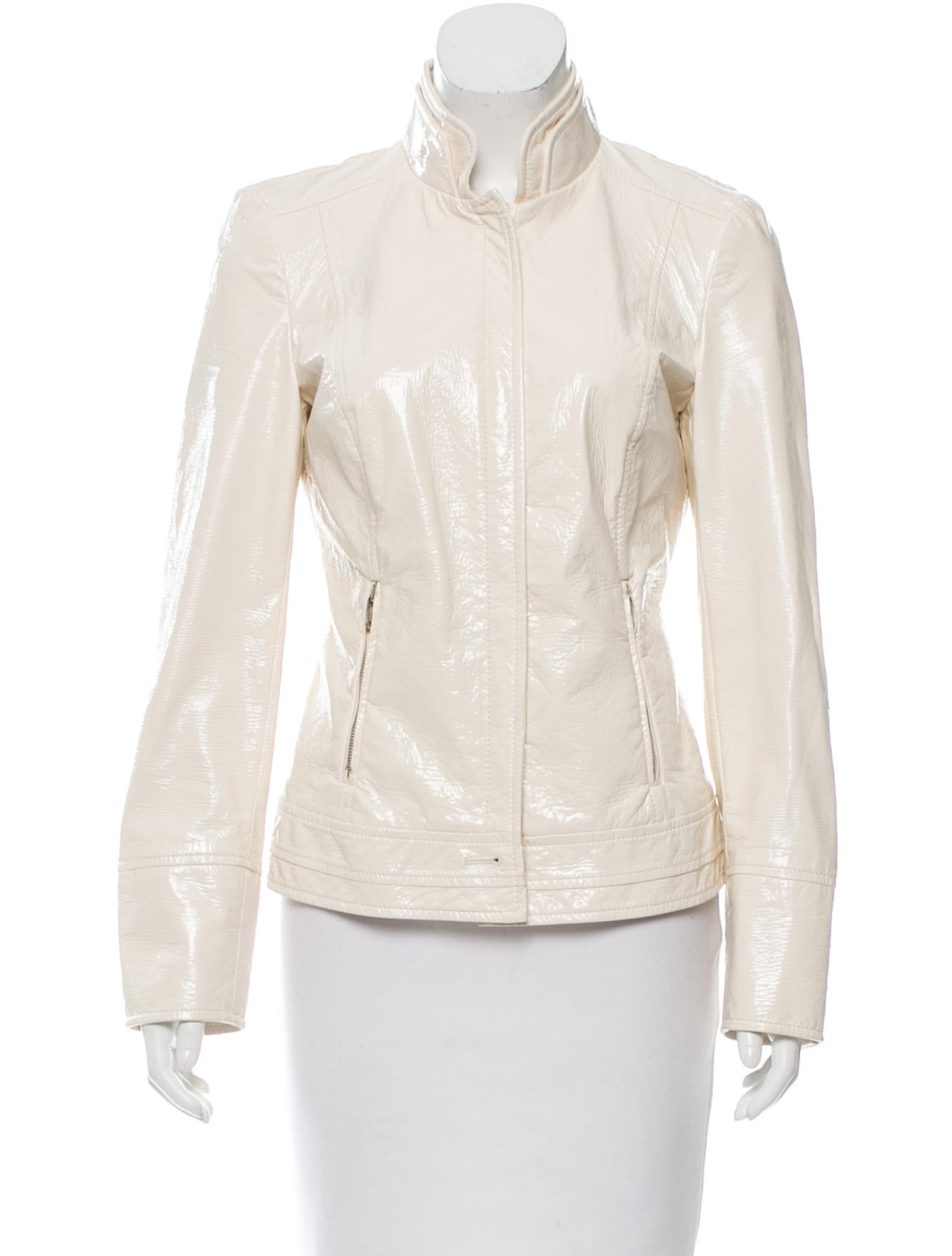 Dolce gabbana vegan patent leather jacket clothing for Leather jacket and shirt