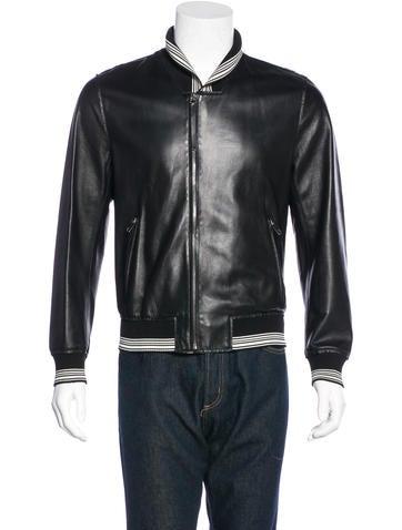 Dolce & Gabbana Leather Bomber Jacket None
