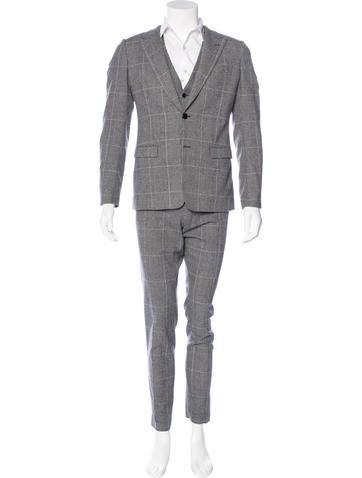 Dolce & Gabbana Glen Plaid Wool Suit