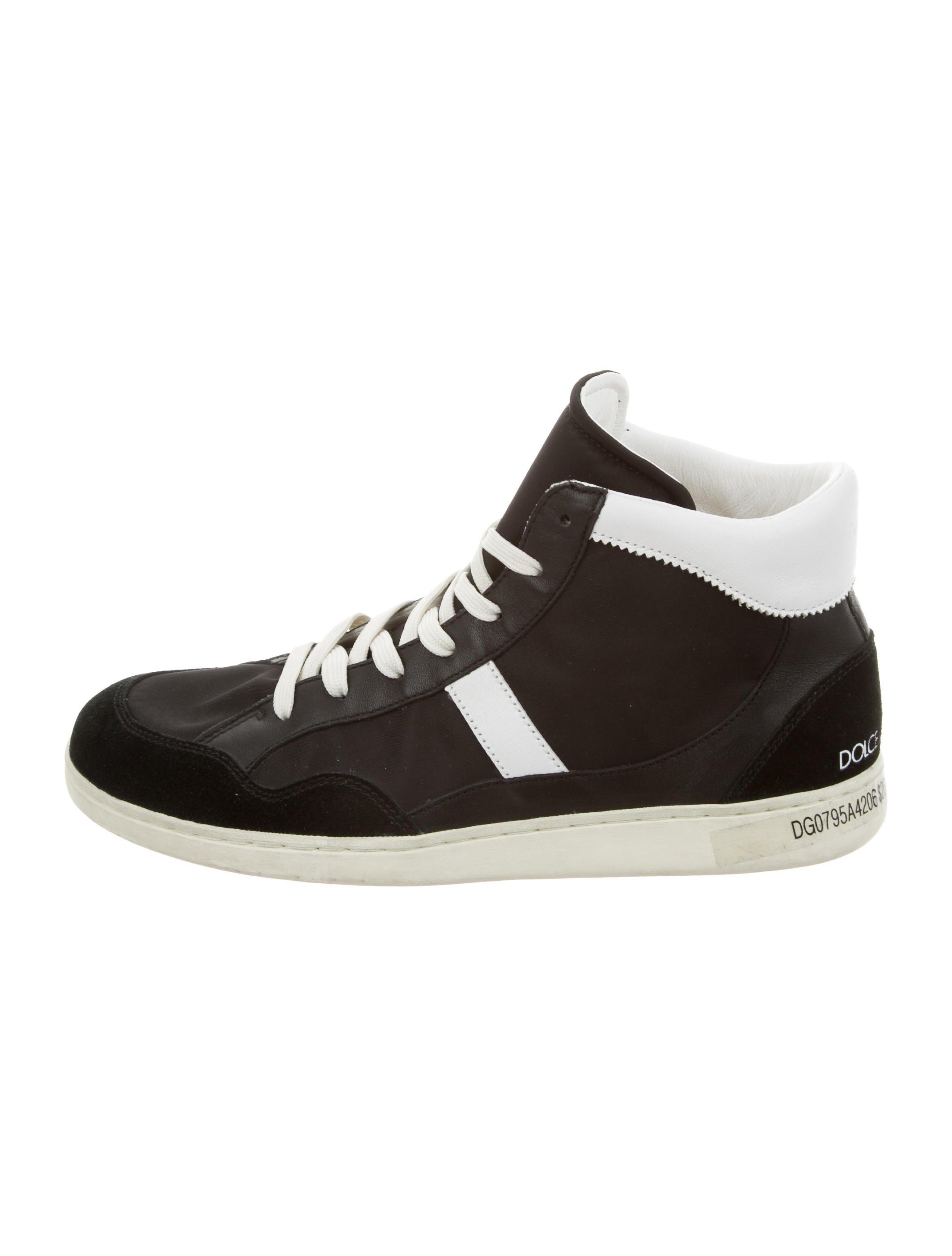 dolce gabbana nylon high top sneakers shoes dag74434. Black Bedroom Furniture Sets. Home Design Ideas