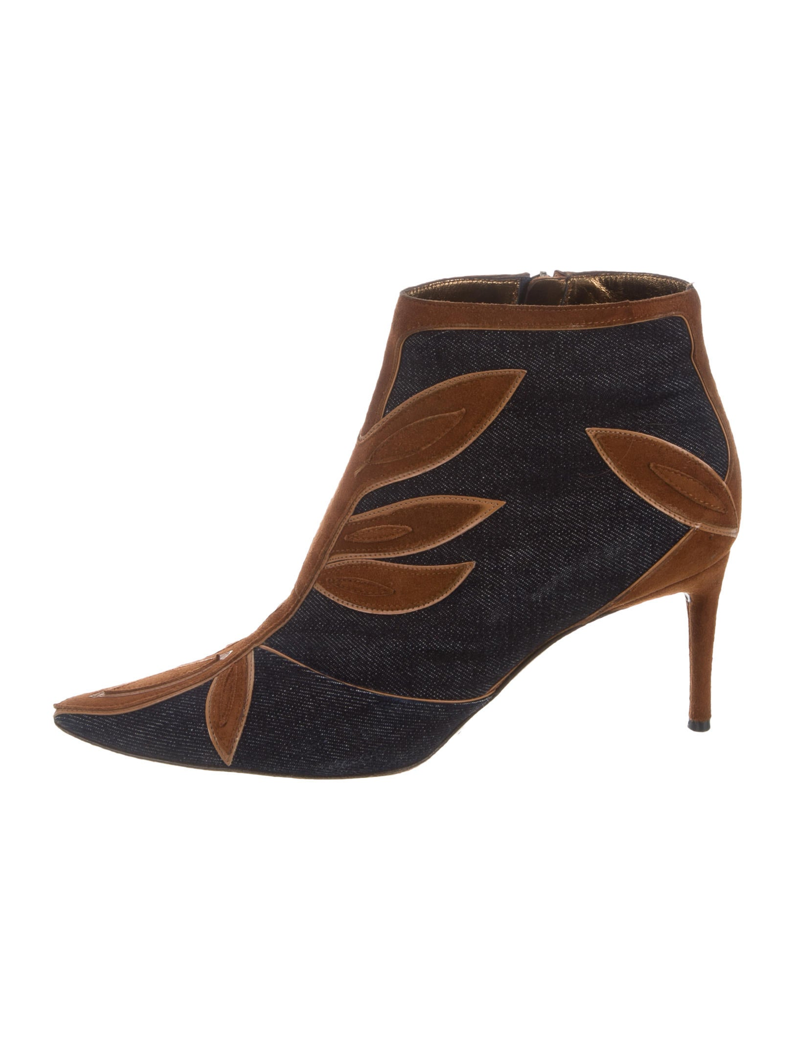 dolce gabbana denim suede ankle boots shoes