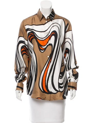 Dolce & Gabbana Silk Abstract Top w/ Tags None