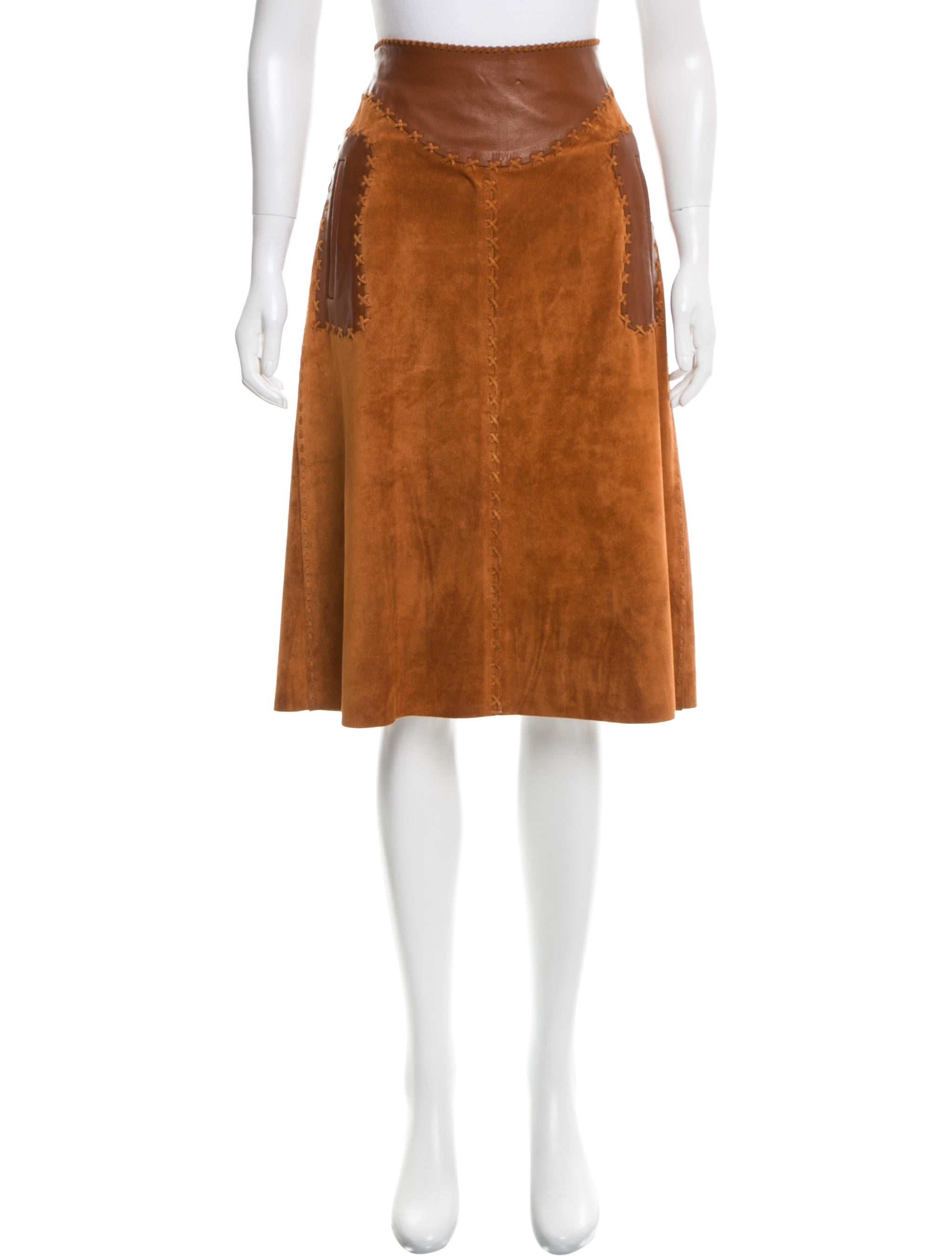 dolce gabbana suede a line skirt clothing dag74678