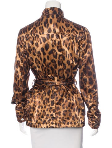 Long Sleeve Leopard Print Jacket