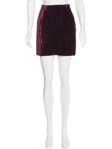 Dolce & Gabbana Crushed Velvet Mini Skirt None