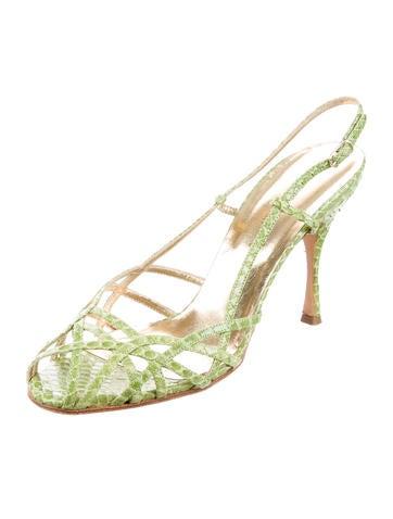 Python Slingback Sandals