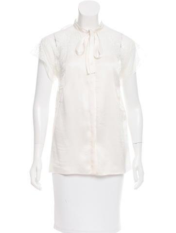 Dolce & Gabbana Short Sleeve Lace Blouse None