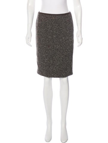 Dolce & Gabbana Wool Patterned Skirt None