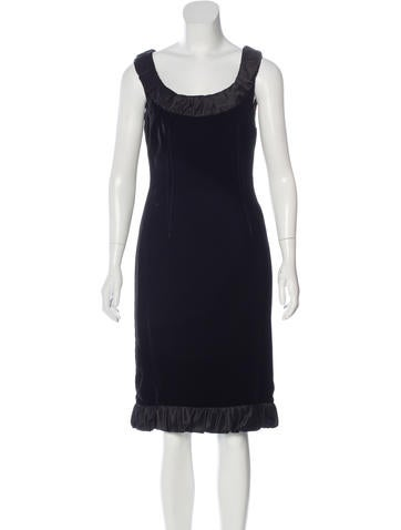 Dolce & Gabbana Velvet Knee-Length Dress None