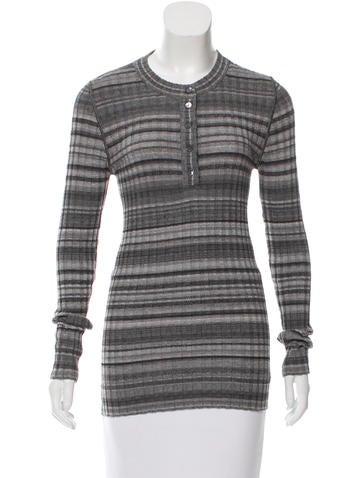 Dolce & Gabbana Striped Rib Knit Top None