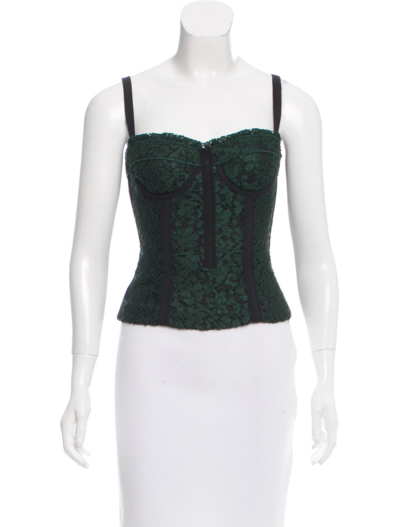 Dolce Amp Gabbana Lace Bustier Top