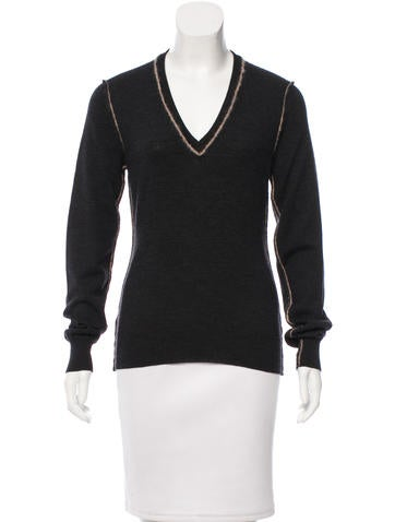 Dolce & Gabbana V-Neck Wool Sweater None