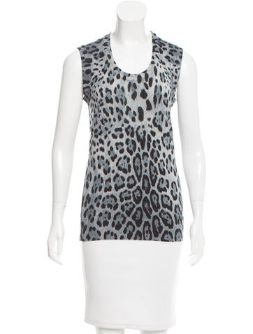 Dolce & Gabbana Leopard Print Wool Top None