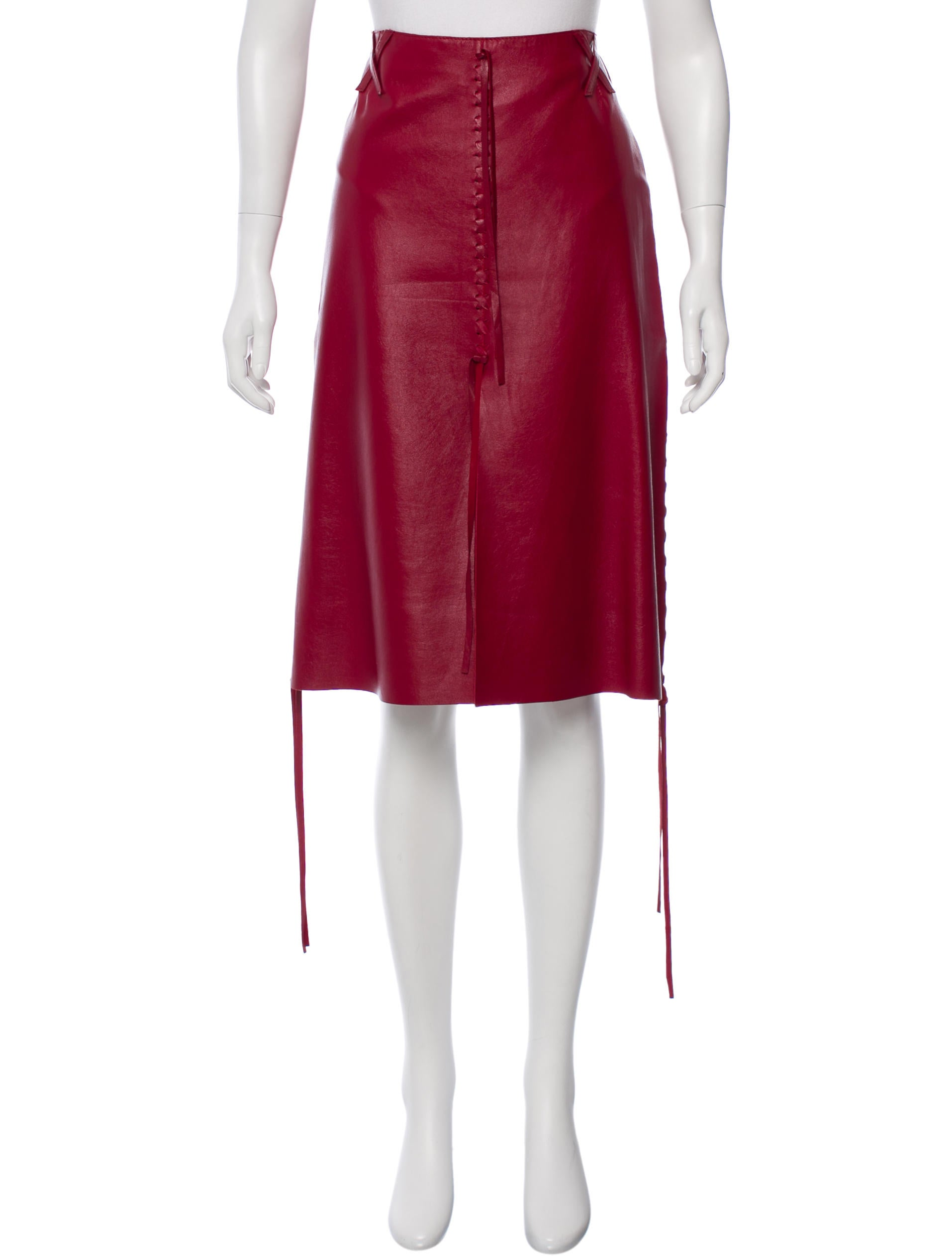 dolce gabbana lace up leather skirt w tags clothing