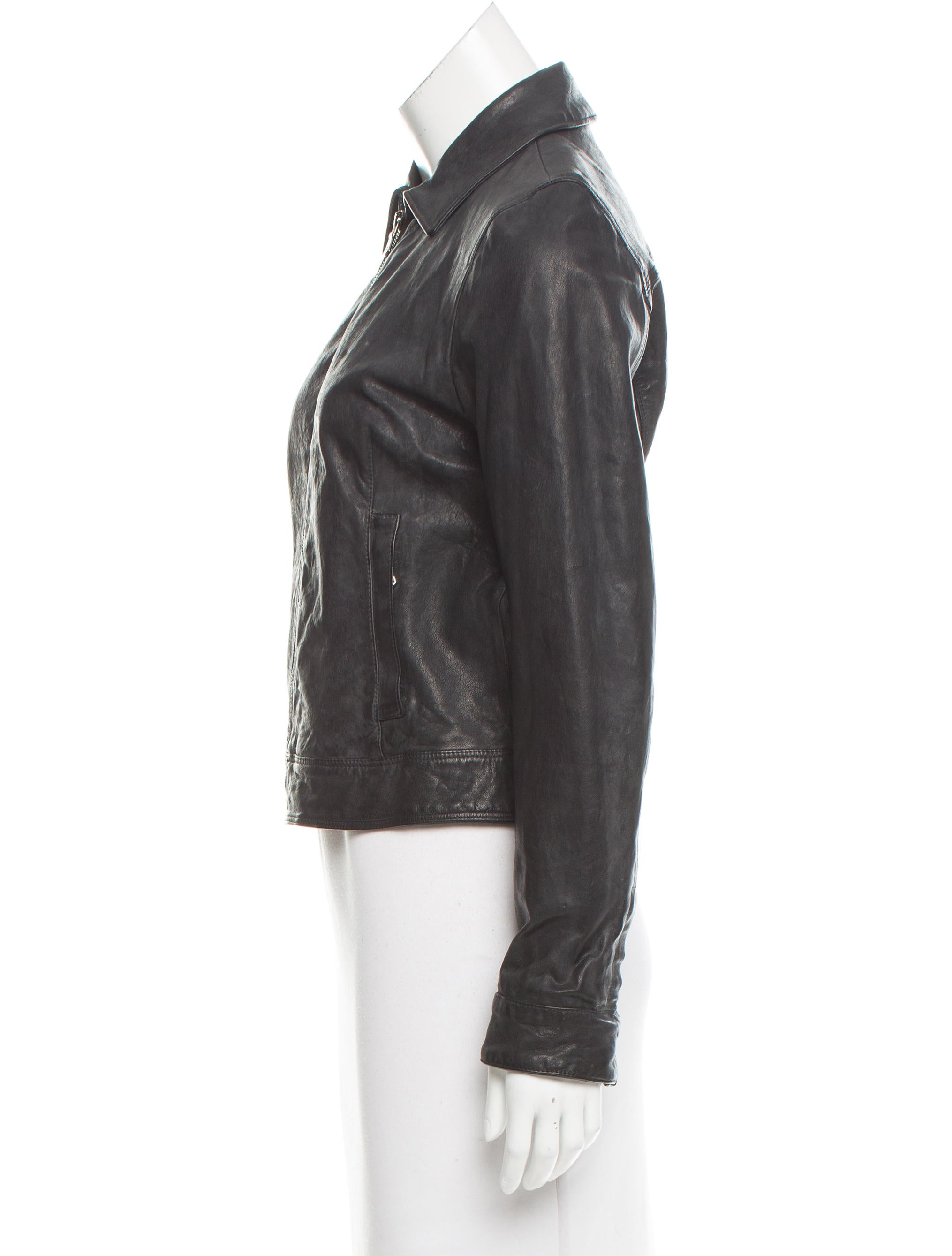 dolce gabbana lightweight leather jacket clothing dag76203 the realreal. Black Bedroom Furniture Sets. Home Design Ideas