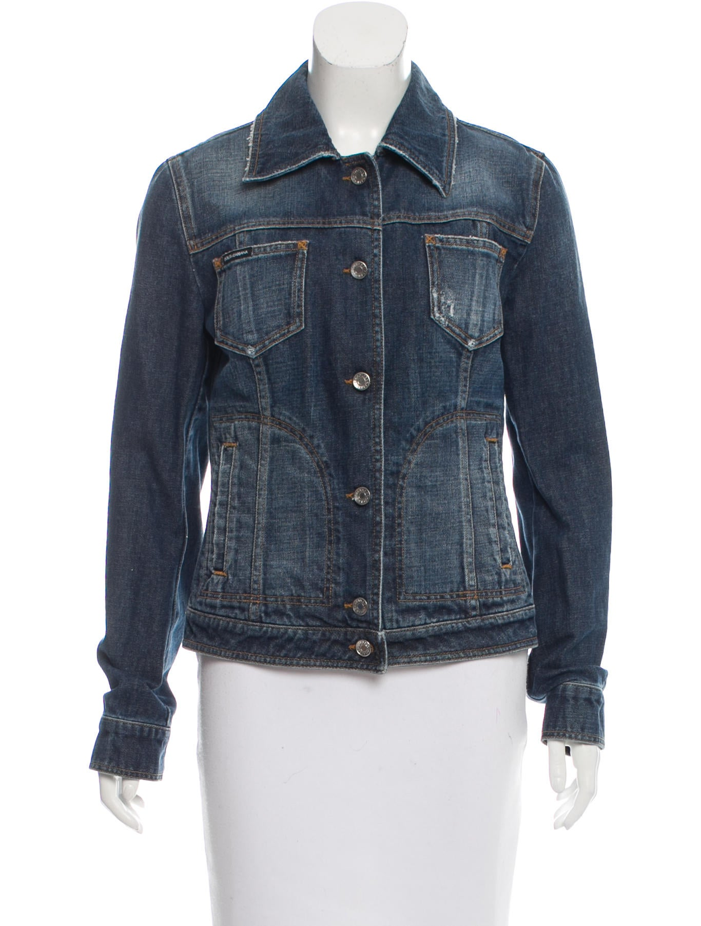 Dolce u0026 Gabbana Distressed Denim Jacket - Clothing - DAG76310 | The RealReal