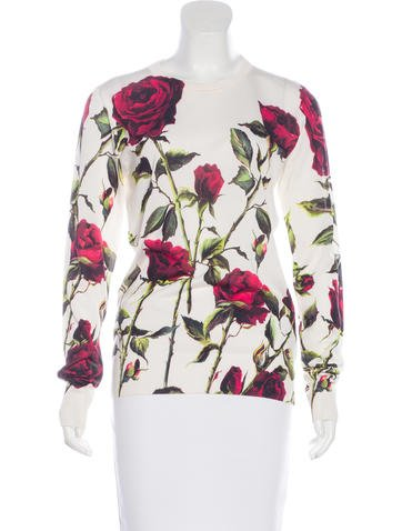 Dolce & Gabbana Silk Floral Print Top None