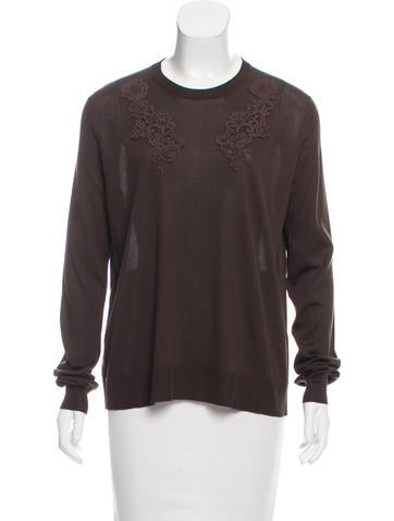 Dolce & Gabbana Silk-Blend Knit Sweater None